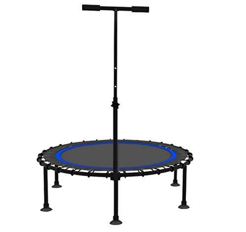 LKFSNGB Professionelles Fitness-Trampolin mit stabilem Lenker, Sport-Trampolin und höchstem Sicherheits-Elastikseil, 40-Zoll-Heim-Innentrampolin