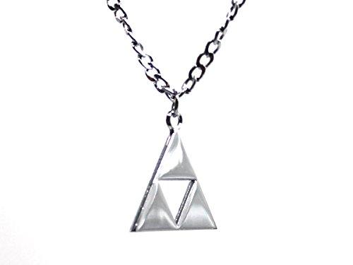 The-Legend-of-Zelda-Halskette-mit-Triforce-Anhnger-Silberfarben