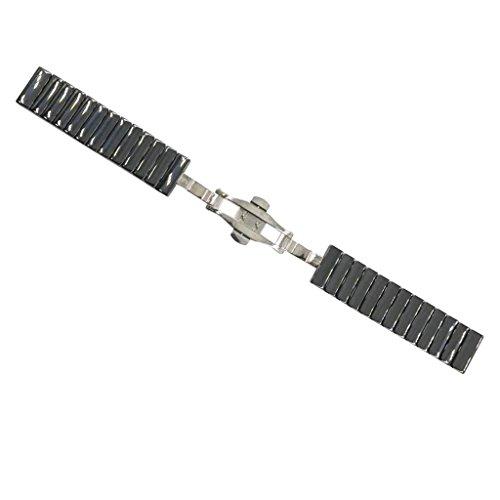 Baoblaze Luxus Keramik Armband Uhrenarmband Strap Ersatz Armband mit Edelstahl Schnalle 20mm