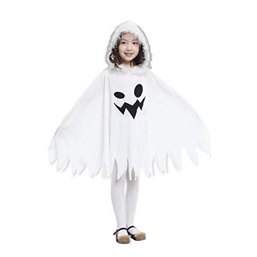Jasnyfall Halloween Cape Halloween kostüm Kinder Kinder Halloween Umhang Lustige Weiße Geister Muster Lange Umhang Mit Hut