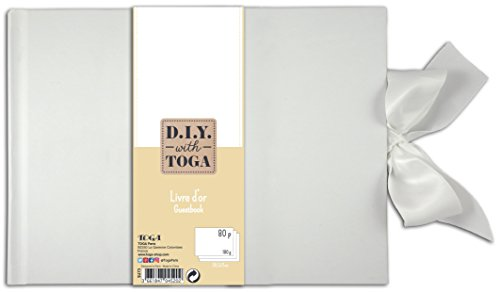 D.I.Y with Toga SU73 Livre d'Or à Pages Blanches Carnet Blanc 30x21x1.5 cm