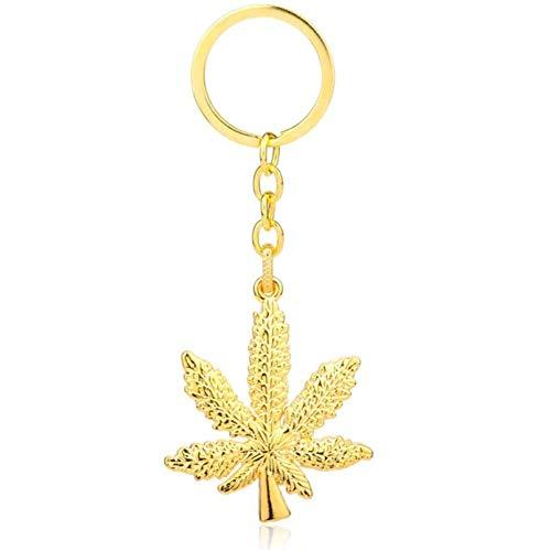 Mode Keychain Hip Hop-Unkraut-Blatt-Marihuana-Ahornblatt-Kette Schlüsselanhänger W (Schlüsselanhänger Unkraut)