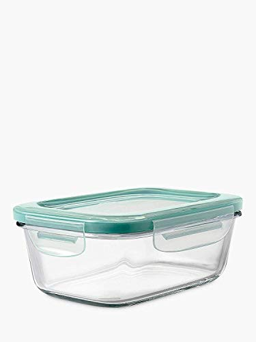Mark Borosilicate Glass Microwave Safe Rectangle Glass Food Storage Containers - Microwave & Freezer Safe - Airtight Bowls with Snap Locking Lids - 1 Piece Set 800ml - BPA Free