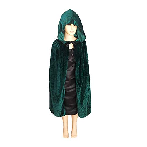 Cosqaye Umhang Mit Kapuze Kostüm Crushed Velvet Hooded Cape Cosplay - Kinder Batman Hooded Kostüm Cape