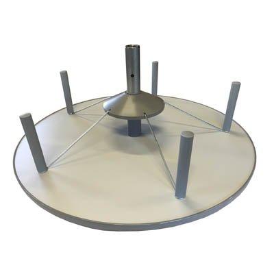 reef RE081BE Ordnersäule 81 cm durchmesser Aufbauetage für OS, einzeln drehbar, grau