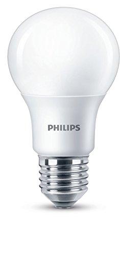 Philips LED Bombilla estandar mate de 8,5W (60W) casquillo gordo E27, luz cálida 2700K, regulable
