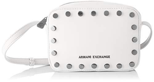 ARMANI EXCHANGE Small Crossbody Bag - Borse a tracolla Donna, Bianco (White), 15x7x20 cm (B x H T)