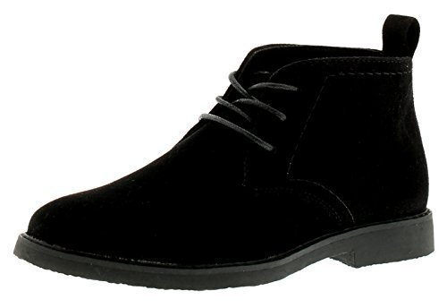 Wynsors New Older Boys/Childrens Black Lace Ups Desert Boots - Black - UK Size 6