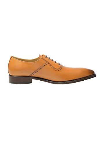 SHOEPASSION.com , Chaussures de ville à lacets pour homme Cognac