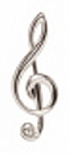 David Van Hagen Argent Music Note cravate Tac de