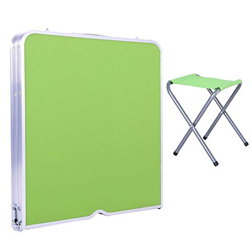 Kleine Kinder-picknick-tisch (Kinder Picknick Tisch Heavy Duty Portable Klapptisch Rechteckig Geeignet Für Bar Picknick Party Kleine Einfache Barbecue Tisch (Size : Green - 4 Stools))