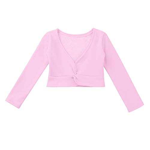 Agoky Kinder Mädchen Ballett Langarm Top Wickel Shirt -