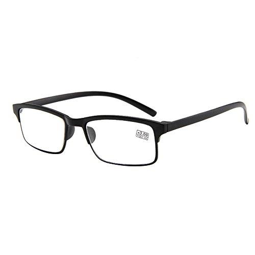 forepin reg; Lesebrille Brille Lesehilfe Sehhilfe Retro Art für Unisex Damen Herren Dioptrie + 3.0