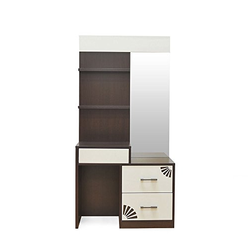 @home by Nilkamal Angel Dresser with Half-Mirror (Brown)