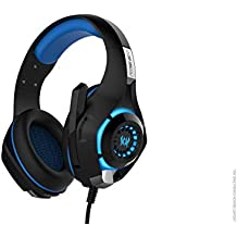 (CERTIFIED REFURBISHED) Kotion Each Over The Ear Headsets With Mic & LED - GS400 Edition For Consoles/PC/Smartphones (Black/Blue)
