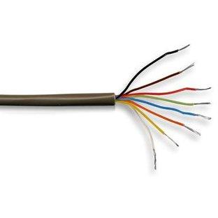Kabel-Core Alarm, Braun 8 Core Einbruchalarm Security System, 10 M (Low-voltage-verkabelung)