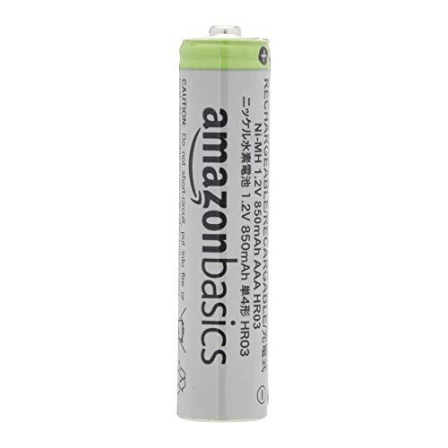 AmazonBasics - AAA-Batterien mit hoher Kapazität, wiederaufladbar, 850 mAh (24er-Pack), vorgeladen