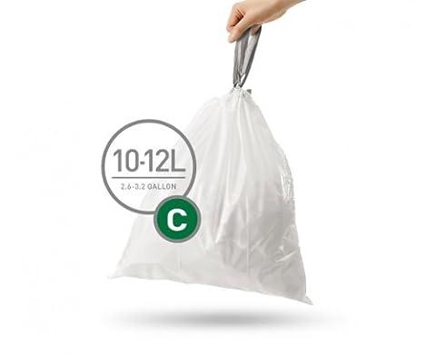 60 (3 Packs x 20) simplehuman code/size C (10-12 litres) bin bag liners, CW0162