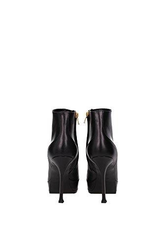 328689CYBU01000 Saint Laurent Chaussure mi montantes Femme Cuir Noir Noir
