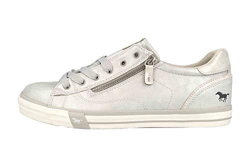MUSTANG Shoes Sneaker in Übergrößen Silber 1146-311-21 große Damenschuhe, Größe:45