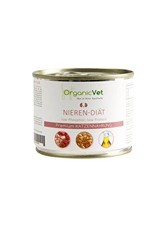ORGANICVET Katze Nassfutter Veterinary Nieren-Diät, 6er Pack (6 x 200 g)