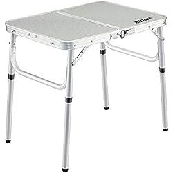 REDCAMP Redcam Petite Table Pliante en Aluminium légère 61 x 40,6 cm