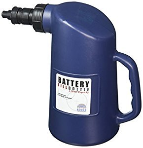 Stone River Battery Filler Bottle - For Golf Cart, Automotive, and Industrial Batteries - For Adding Water to Cells - with Auto Stop