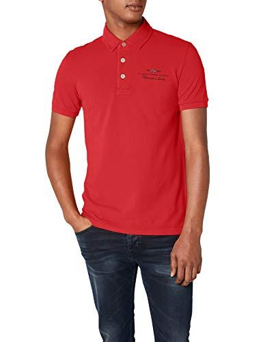 Napapijri Elbas 1 Herren Poloshirt, Rot (Bright Red R89), Large -