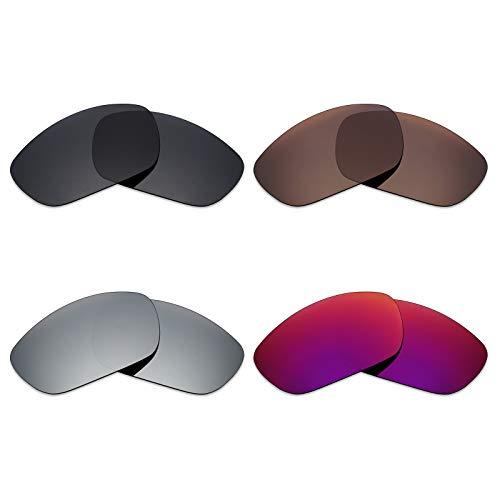 Mryok polarisierte Ersatzgläser für Wiley X Brick Sonnenbrille - Stealth Black/Bronze Brown/Silver Titanium/Midnight Sun