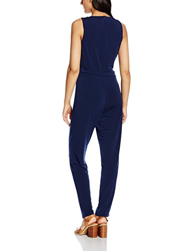Esprit mit Stretch -  combinaison-pantalon - Femme Bleu (NAVY 400)