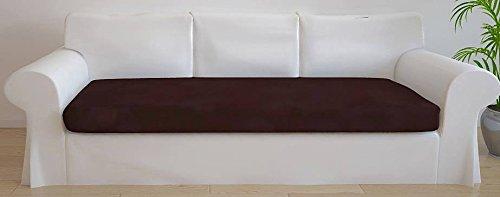 Italian Bed Linen 8058575005618 Copriseduta per Divano Tessuto Bielastico a Struttura Liscia, Marrone, Poliestere, Matrimoniale, 110 x 50 x 1 cm