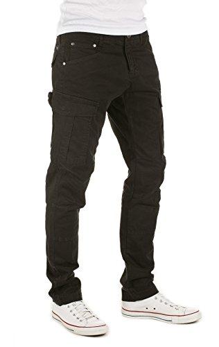 WOTEGA Homme Pantalon Cargo Daryl black (4008)
