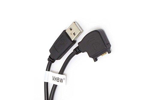 vhbw USB Datenkabel für Nokia 6230i, 6233, 6234, 6260, 6270, 6280, 6288, 6630, 6650, 6670, 6680, 6681, 7270, 7370, 7373 Handy schwarz