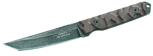Herbertz TOP-Collection Messer Gürtelmesser stonewashfinish Gesamtlänge: 19.5cm, Grau, M