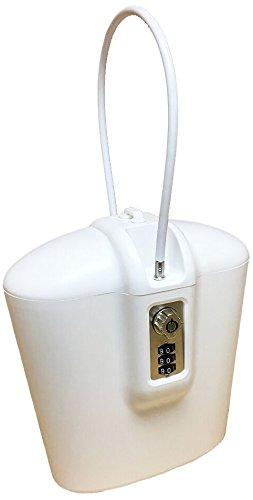 safego Lock-Tragbare Box Safe mit Schlüssel und Kombination Zugang (weiß) (Kombination Kabel-gun Lock)