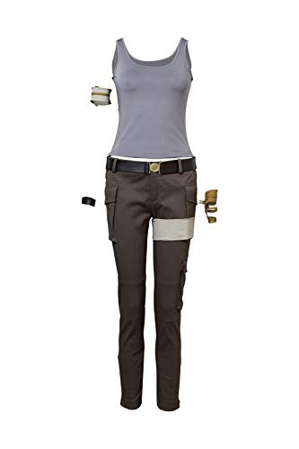 MingoTor Superheldin Outfit Cosplay Kostüm Damen S (Halloween-outfits Croft Lara)