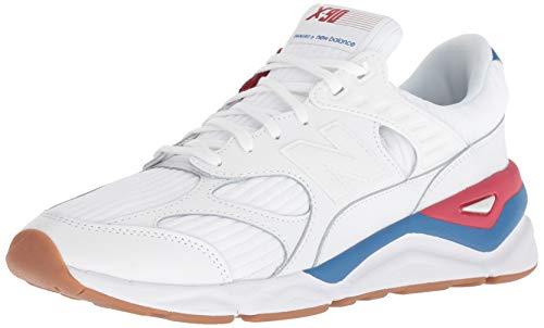 New Balance Herren X-90 Sneaker, Weiß (Munsell White/Classic Blue/Chilli Pepper Wb), 45 EU -