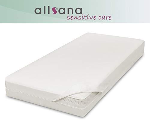 allsana Sensitive Care Matratzenbezug 100x200x30 cm, Allergie Bettwäsche für Boxspring Matratzen, Anti Milben Matratzenbezug mit extra hoher Steghöhe