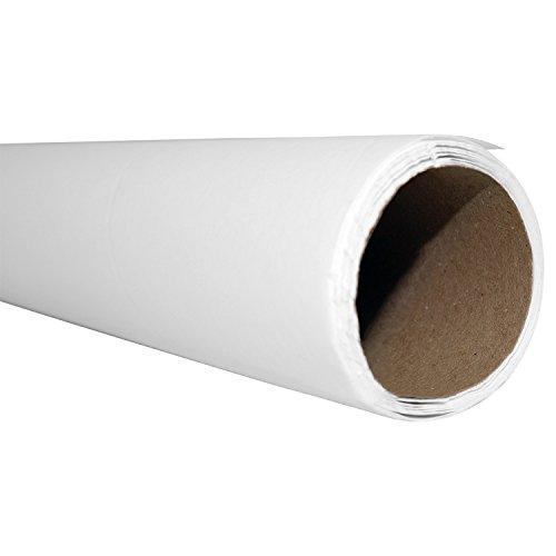 Akingstown Seidenpapier 100cm breit, 10m Rolle - 22 g/qm -Juwelierseide- perfekt zum Zeichnen Basteln Gestalten Zuschneiden- Skizzen-Papier - Packseide weiß transparent- bügelfähig