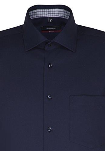 Seidensticker Herren Businesshemd Modern Langarm mit Kent-Kragen Bügelfrei Blau (Dunkelblau 19)