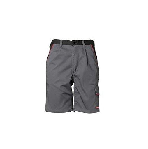 Planam Highline Shorts schiefer/schwarz Zink/Schiefer/Rot