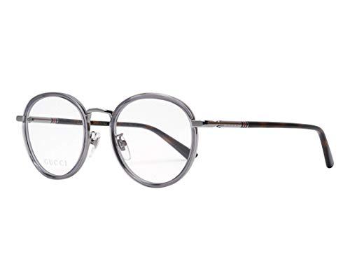 Gucci Brille (GG-0393-OK 004) Acetate Kunststoff - Metall kristall grau - dunkel havana