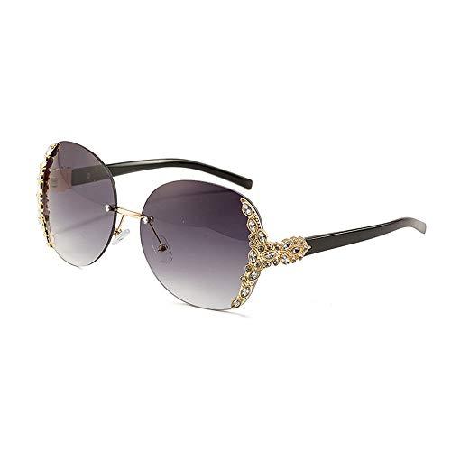 Yiph-Sunglass Sonnenbrillen Mode Damen-Metall-Schmuck-Rahmen Sonnenbrillen (Farbe : Lila)