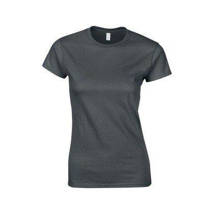 Gildan–T-shirt à manches courtes–Femme Bleu marine