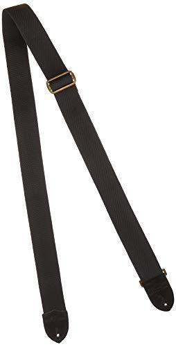 Fender Sangle 5cm Cotton/Leather black - Correa guitarra Strap,Cotton W/Oval Black