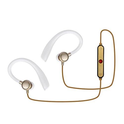Yukong In-Ear Earphone Sport Headset, Wireless Bluetooth Headset SPORT Stereo Kopfhörer Kopfhörer Universal für Samsung, Für iPhone, LG, Sony, Motorola, Blackberry, Nokia, Tablet, etc. Gold