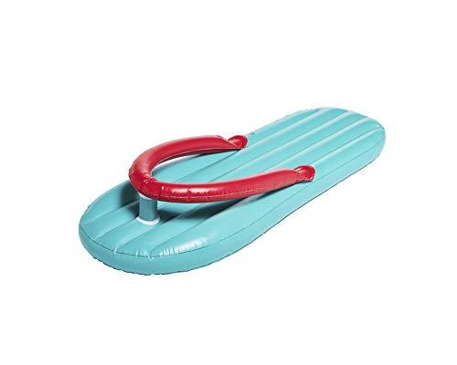 Flip Flop XL Luftmatratze 180 x 85 cm - Blau - Lustige Schwimmliege für Pool Schwimmbad Urlaub Strand Meer