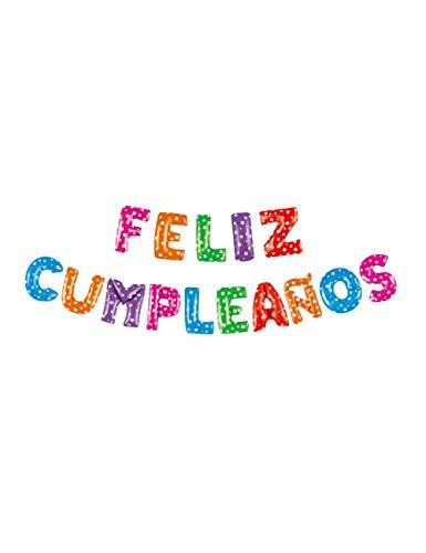 WSJQQ Brief Ballons Folie Spanien Happy Birthday Alphabet Ballon Geburtstagsfeier Dekorationen Kinder Baby Shower Bälle Spain Mix dot