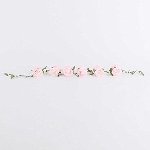 Hochzeitsdeko, Kunstblume, Rosengirlande, Rosa, Schaumstoff, L: 140 cm | knuellermarkt.de |...