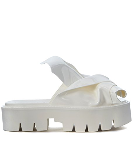 N°21 Slippers loves Kartell Modell Knot in PVC Weiss Weiß